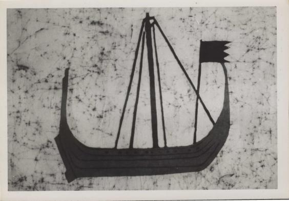 batik showing a Norse ship