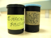 film canisters with hand-written labels