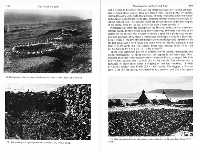A page from Fenton's book The North Isles Orkney & Shetland